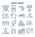 robotic surgery set vector image vector image