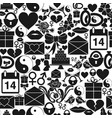 seamless pattern st valentines day dense vector image