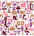 Seamless pattern with beauty female icons vector image vector image