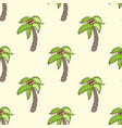seamless pattern with coconut palm vector image