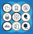 set of 9 ecology icons includes home timber vector image vector image