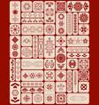 set of sacred geometry symbols and mandalas vector image vector image