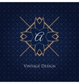 Simple and elegant monogram design template vector image vector image