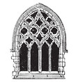 small gothic window tracery during the fourteenth vector image vector image
