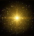 star burst space background with sparkles vector image