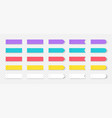 sticky notes colored book and notebook marks vector image vector image