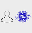 stroke person icon and scratched secret vector image vector image