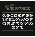 Stylized hi-tech font Vertex vector image vector image