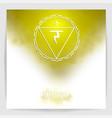 third solar plexus chakra - manipura vector image vector image