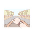 travelling road tourism concept vector image