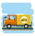 urban delivery service vector image
