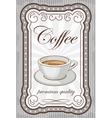 Vintage coffee poster vector image