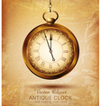 vintage pocket watch on an old grunge background vector image