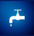 water tap with a falling water drop icon isolated vector image