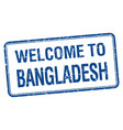 welcome to bangladesh blue grunge square stamp vector image vector image