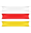 White Red and Yellow Blank Empty Banners vector image vector image