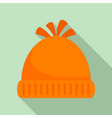 woolen winter hat icon flat style vector image vector image