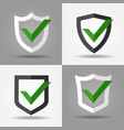 yes shields set vector image vector image