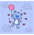 Cute bear with love background vector image