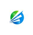 round arrow abstract logo vector image