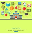 School and education concept background with place vector image