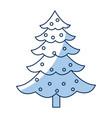 christmas pine tree balls decoration celebration vector image