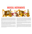 musical instrument poster template music design vector image
