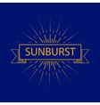 Set of vintage handdrawn sunbursts in different vector image