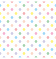 Seamless sweet colorful baby dots white background