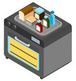 3d design for microwave oven and food