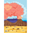 A volcano vector | Price: 1 Credit (USD $1)