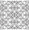 abstract monochrome ornate seamless pattern vector image vector image