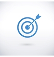 achieving goal logo design template vector image
