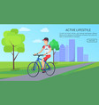active lifestyle bright poster vector image