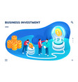 application screen for business investmentprocess vector image vector image