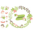 Autumn Forest Set vector image vector image