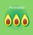 avocado cartoon background vector image