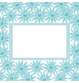 Background frame and flowers vector image vector image