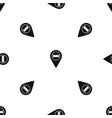 bed hostel hotel sign pattern seamless black vector image vector image