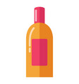 big bright shiny bottle with soft skin moisturizer vector image