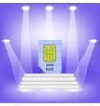 Blue SIM Card vector image