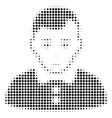 boy halftone icon vector image vector image