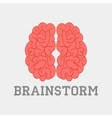 Brainstorm think idea vector image vector image