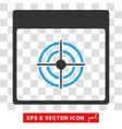Bullseye Calendar Page Eps Icon vector image vector image