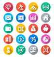 Business and investment flat color icons vector image vector image