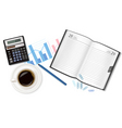 business planning background vector image