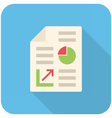Business report icon vector image