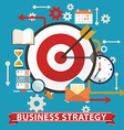 Business strategy Flat banner vector image vector image