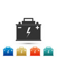 car battery icon isolated on white background vector image vector image