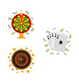 casino roulette wheel of fortune playing cards vector image vector image